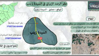 """صورة """"ملفات سوريا"""" تكشف بالتفاصيل مقرات إيران في السيدة زينب"""
