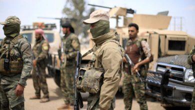 صورة قصف متبادل جنوب إدلب وتحليق للطيران الحربي الروسي