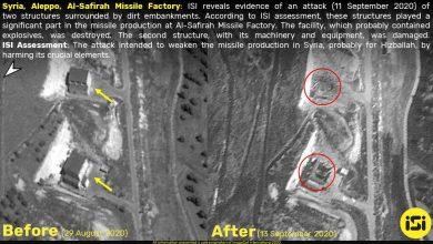 صورة صور منشآت إيرانية استهدفتها إسرائيل قرب حلب