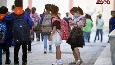 """صورة مدارس سيطرة النظام تتجاهل """"كورونا"""""""