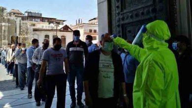 """صورة مصادر """"ملفات سوريا"""": مليون ونصف حالة كورونا في دمشق وريفها"""