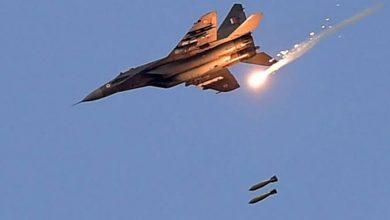"""صورة طائرات روسية تستهدف معسكرات """"هتش"""""""