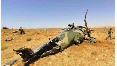 صورة تحطم طائرة عسكرية في تونس