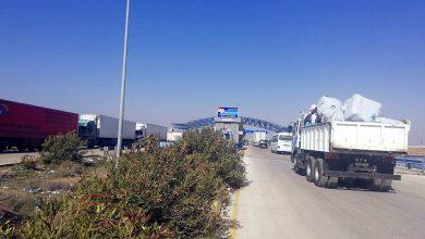 صورة عودة البضائع السورية إلى السعودية عبر معبر جابر الأردني
