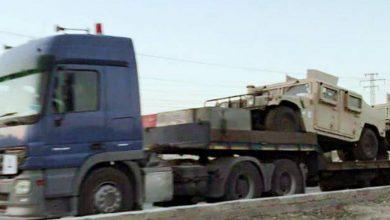صورة ٥٤ شاحنة عسكرية تتجه لمواقع التحالف في سوريا
