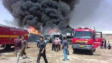 """صورة قتيل بانفجار """"مجهول"""" داخل مدينة صناعية بإيران"""