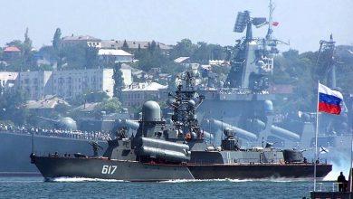صورة مناورات روسية مصرية في البحر الأسود
