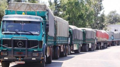 """صورة الأردن يخسر مرور الشاحنات السورية لصالح معبر """"عرعر"""""""