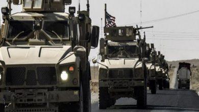 صورة انسحاب آليات عسكرية أمريكية من سوريا باتجاه العراق