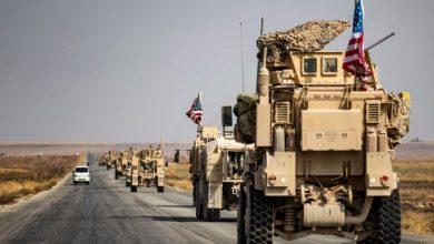 صورة خروج رتل أمريكي ضخم من سوريا إلى العراق