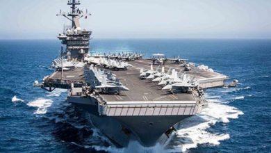 """صورة ترامب يرسل حاملة الطائرات """"يو إس إس نيميتز"""" إلى الخليج"""