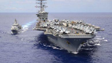 صورة البحرية الأمريكية تبرر نشر حاملة طائراتها في الخليج