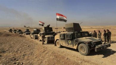 صورة تعزيزات عسكرية عراقية إلى الحدود مع سوريا
