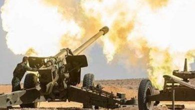 صورة قصف متبادل بين الجيش السوري والفصائل في إدلب