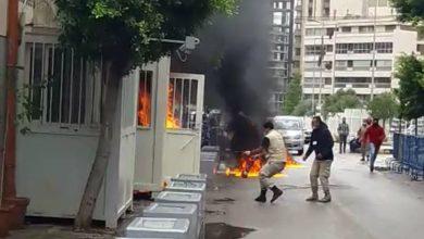 صورة لاجئ سوري يحرق نفسه في لبنان … تعرف على السبب