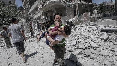 صورة قصف الجيش السوري يقتل 4 أطفال