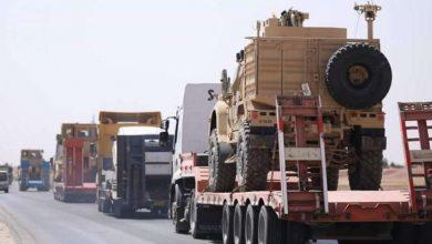 صورة دخول 50 شاحنة أسلحة لقواعد التحالف في الحسكة