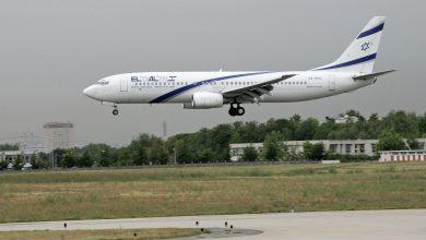 صورة تغيير مسار طائرة مدنية إسرائيلية بسبب القصف على سوريا