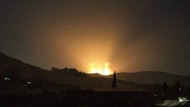 صورة قتيل وجرحى بقصف إسرائيلي على محيط دمشق