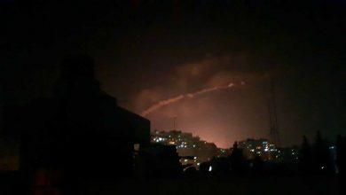 صورة قصف إسرائيلي على مواقع إيرانية في مصياف