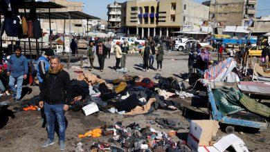 صورة 32 قتيلا في انفجار بسوق شعبي في بغداد