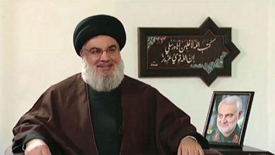 """صورة """"نصر الله"""": إيران قوية بما يكفي لتثأر لـ""""سليماني"""""""