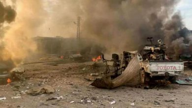 صورة انفجار مفخخة في رأس العين يخلف قتلى بينهم أطفال