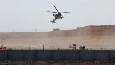 صورة هبوط اضطراري لمروحية للتحالف شرق سوريا