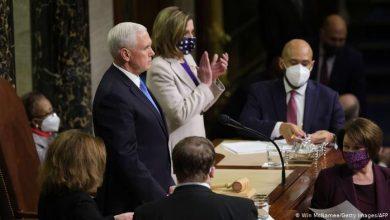 """صورة الكونغرس يصادق على فوز """"بايدن"""" و""""ترامب"""" يعد بانتقال سلمي"""