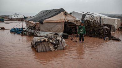 صورة السيول تحول مخيمات الشمال إلى مستنقعات