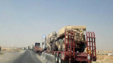 صورة قافلة ضخمة للتحالف تدخل مدينة القامشلي
