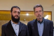 "Photo of American justice mocks ""Al-Julani"" suit"