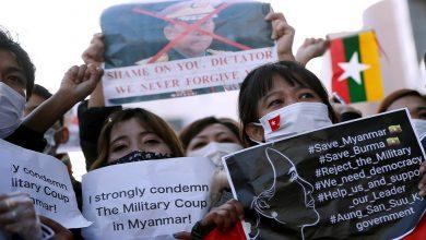 صورة مقتل 100 محتج في ميانمار