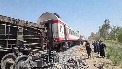 صورة مقتل 32 مصرياً وإصابة 66 آخرين في حادث قطاري سوهاج