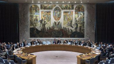 صورة حرب كلامية بين روسيا والغرب في مجلس الأمن