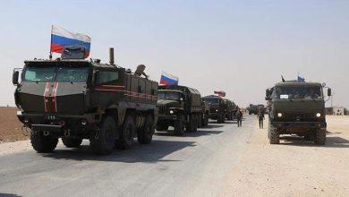صورة تعزيزات عسكرية روسية الى الحسكة