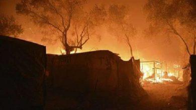 صورة الحرائق تبتلع خيام السوريين في مجدل عنجر