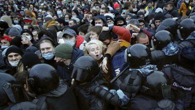 صورة تجدد المظاهرات المطالبة برحيل بوتين في موسكو