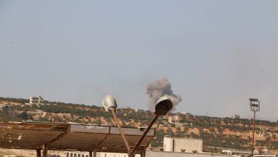 صورة قصف للنظام على ريفي حماة وإدلب