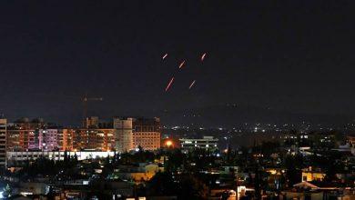 صورة غارات إسرائيلية تستهدف محيط دمشق