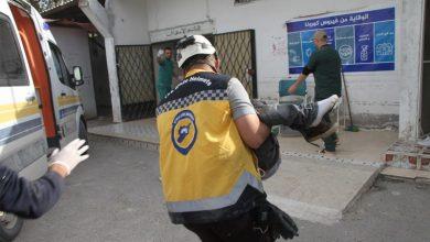 صورة ضحايا بقصف للنظام غربي إدلب