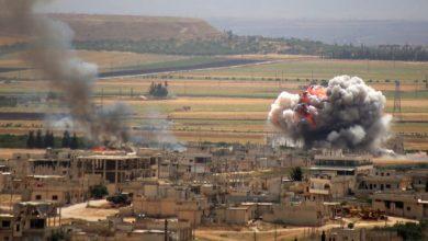 صورة انفجار ضخم يهز أطراف بلدة الفوعة بريف إدلب الشرقي