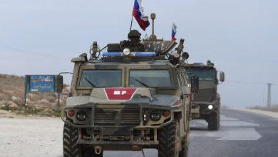 صورة تسيير دورية عسكرية روسية في ريف الرقة