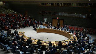 صورة جلسة طارئة لمجلس الأمن حول تطورات النزاع بين إسرائيل وفلسطين