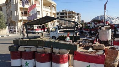 صورة درعا..شعارات وعبارات تدعوا لمقاطعة الانتخابات الرئاسية