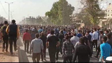 """صورة إضراب شامل في منبج احتجاجاً على التجنيد الإجباري في صفوف """"قسد"""""""