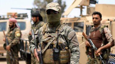 """صورة اشتباكات بين """"قسد"""" و القوات الحكومية شمالي الرقة"""