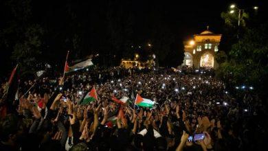صورة فلسطين.. احتفالات واسعة بوقف إطلاق النار وانتصار المقاومة