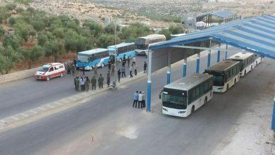 صورة وصول مهجري بلدة أم باطنة إلى إدلب