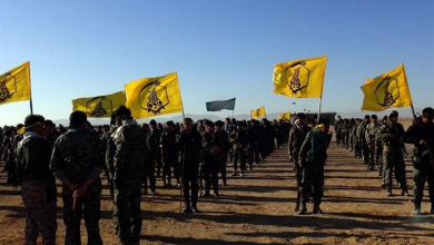 """صورة """"فاطميون"""" تستقدم تعزيزات عسكرية لمواقعها في ريف حلب"""